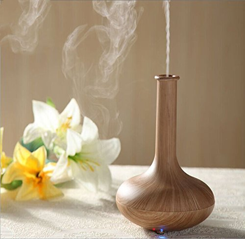 Enshey NEW Woodgrain Ultrasonic Aroma Essential Oil Diffuser Quiet Cool Mist Humidifier Air Humidifier Automatic Shut-off Essential Oil Fragrance Machine Ionizer for Office Home Bedroom Baby Room Stud by Enshey