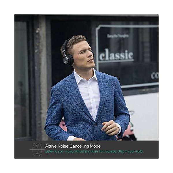 LINNER Lightweight Noise Cancelling Wireless Headphones,Best Noise