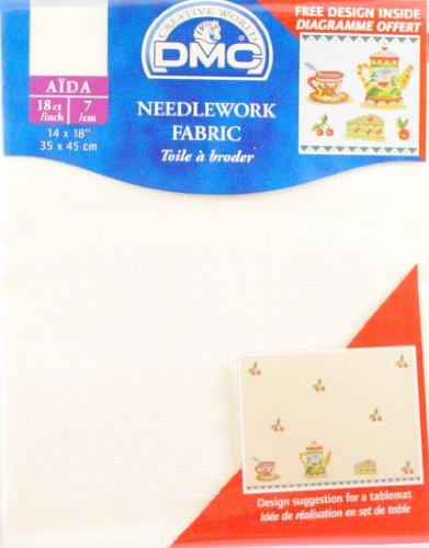 18 Count Aida Fabric 14x18 Inches  - Ecru - DC37/10