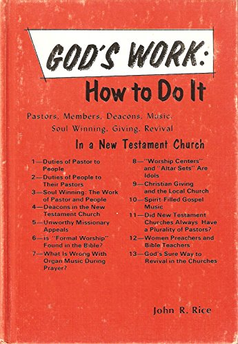 God's Work: How To Do It