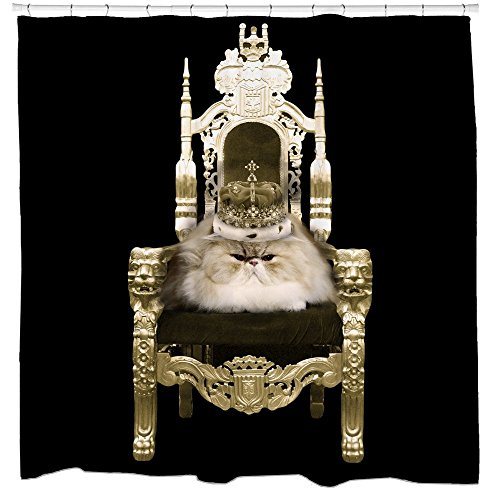 Watch the throne persian cat shower curtain cat lovers gifts (Persian Gifts Cat)