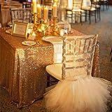 Best Wholesale 10pcs 90x132inch Rectangle Sequin Tablecloth, Gold Sequin Tablecloth Shimmer Sequin Fabric,Table Linen Wedding/Party/Evening Dress Decoration