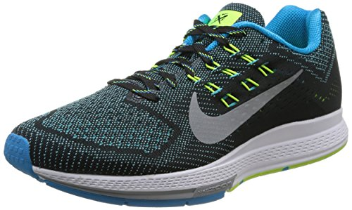 Nike Air Zoom Structure 18, Scarpe Sportive, Uomo Blue Lagoon/Rflct Slvr-vlt-blk