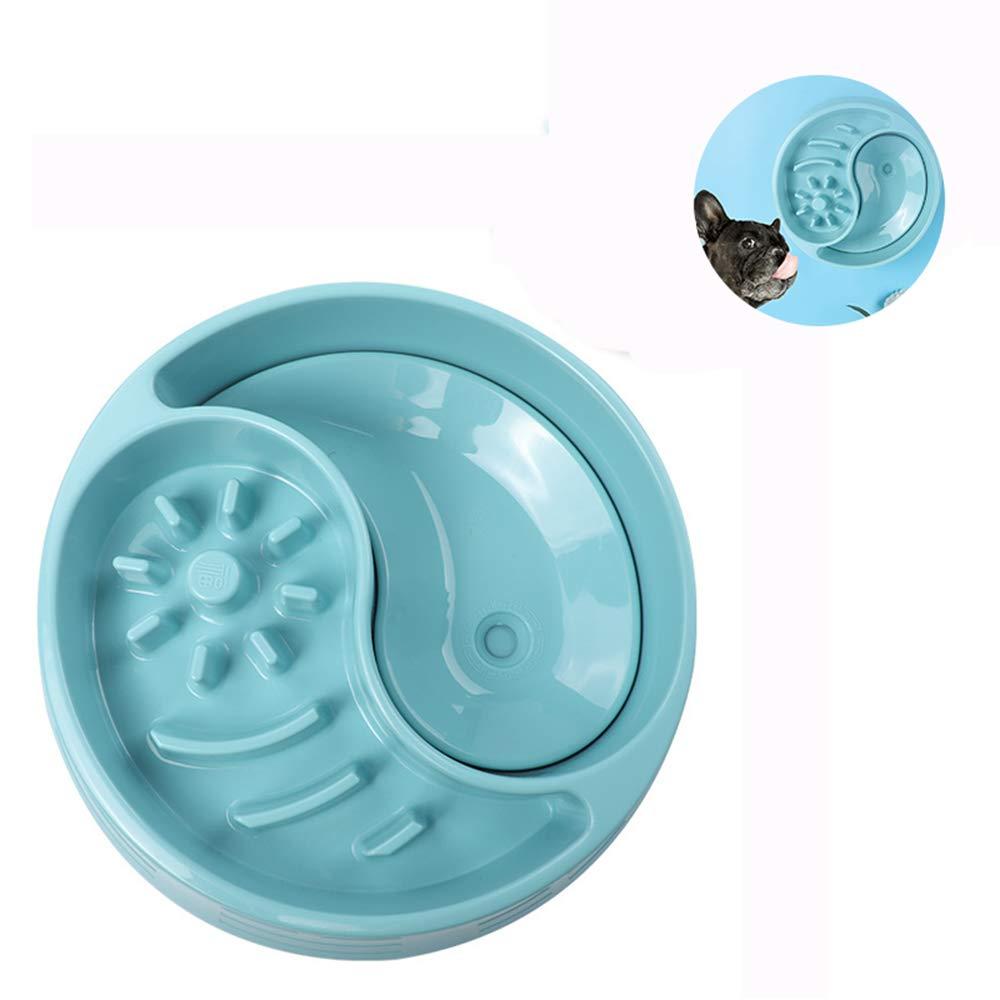 A Slow Feeder Dog Bowl Fun Feeder Slow Feeding Interactive Bloat Stop Dog Bowls(Dual Use Bowl),A