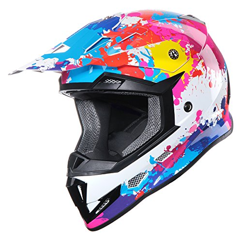 GLX Youth Motocross ATV Dirt Pink+Goggles+Gloves