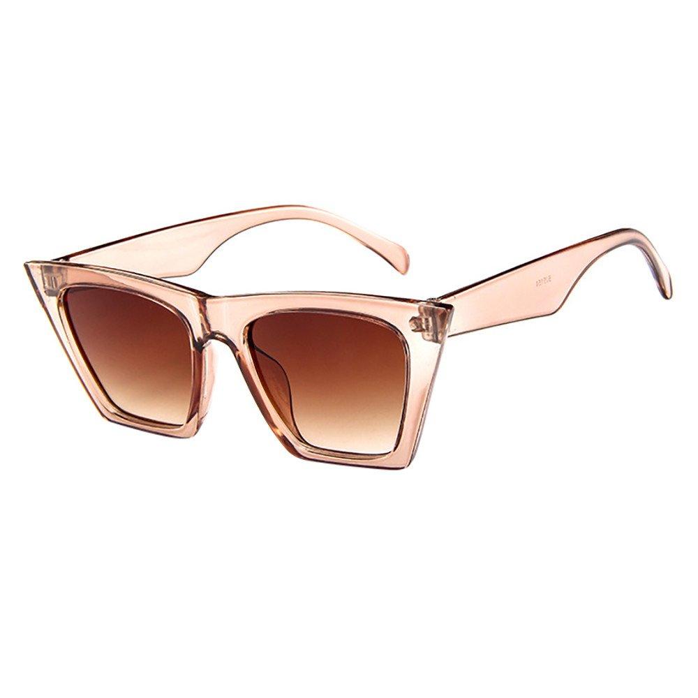 POHOK Square Oversized Sunglasses for Women Men Flat Top Fashion Shades