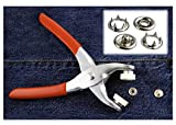 Easy Press Button Snap Fastener Pliers with 108