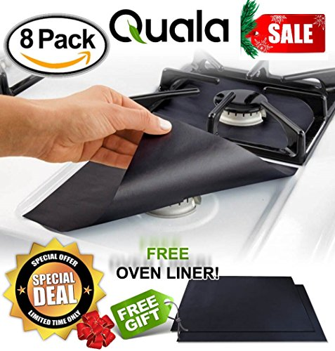 QUALA Gas Range Protectors 8 Pack