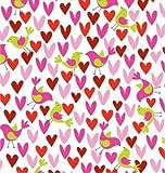 Birds & Hearts Gift Wrap Roll 24'' X 15'