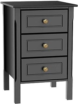 Black//Grey//White Wide Drawer 4 Metal Handle Runners Beside Table Bedroom Cabinet