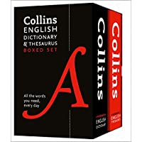Collins English paperback dictionary and thesaurus set