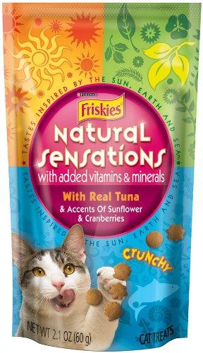 Purina Friskies Natural Sensations Treats, TUNA, 2.10-Ounce (Pack of 10), My Pet Supplies