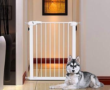 L.TSA Puertas de Seguridad 96cm Niño Elevado para escaleras Bar de Puerta para Mascotas Valla para Perros Parque para Cachorros Adecuado para Barrera de bebé de 75cm-82cm de Ancho: Amazon.es: Deportes y