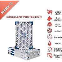 12x24x2 MERV 11 ( MPR 1000 ) AC Furnace 2 Inch Air Filters - 4 Pack