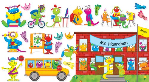 Scholastic Monsters Back to School Bulletin Board (TF8415) (Board Schoolhouse Set Bulletin)