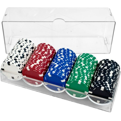 Clear Acrylic Poker Chip Rack/Tray with Covers - Set of 5 by Brybelly