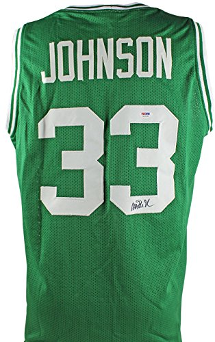 Michigan State Magic Johnson Authentic Signed Green Jersey PSA/DNA ITP