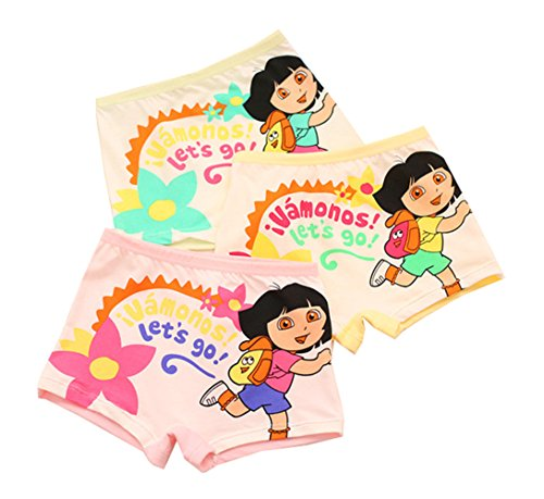 - 2-8 Years Girl's Character Dora Boyshort