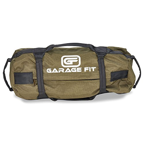 Garage Fit Heavy Duty Workout Sandbags for Fitness, Exercise Sandbags, Military Sandbags, Weighted Bags, Fitness Sandbags, Training Sandbags (Military Green 25-75 lbs)