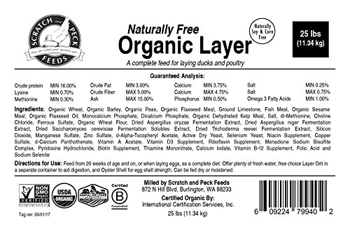 Naturally-Free-Organic-Layer-Feed-for-Chickens-and-Ducks-25lbs-Non-GMO-Project-Verified-Soy-Free-and-Corn-Free