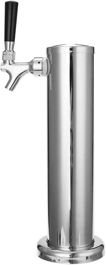 Baugger Torre de Cerveza Baugger de Acero Inoxidable: Grifo Llave de Paso, Accesorios de Barra de Columna de Barril para Elaboración Casera de Cerveza Homebrew-Type-1