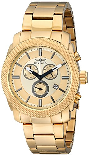 Gold Chronograph Swiss - Invicta Men's 17744 Specialty Analog Display Swiss Quartz Gold Watch
