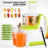 Mecor 150W White Heavy Duty Slow Juicer Machine Fruit Vegetable Vitamin Extractor