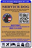 Buttonsmith® Holographic Service Dog ID Card