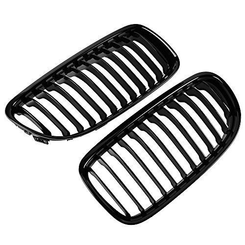 Set Gloss Black Front Hood Kidney Grille Direct Fit 09-11 BMW 3 Series E90 E91 LCI 323i 325i 330i 335i Facelift