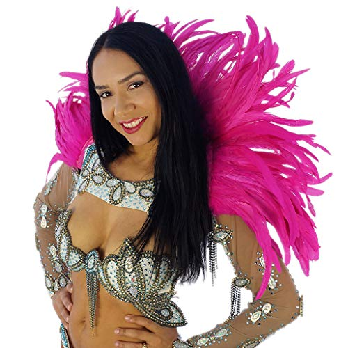 Feather Carnival Costume Samba Collar - Shocking Pink Cosplay/Halloween Costumes]()