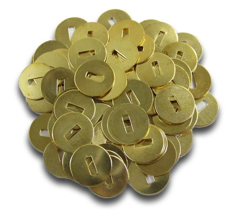 Prong Paper Fasteners Washers - Acco #2 Solid Brass Washers 1/2