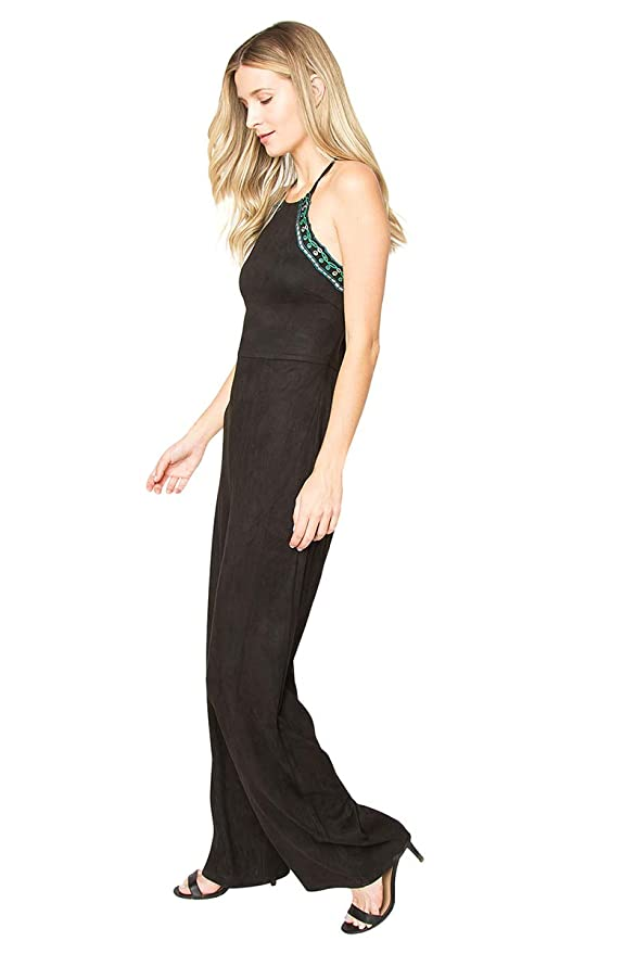 993d97cf15d Amazon.com  Sugar Lips Delta Suede Jumpsuit  Clothing