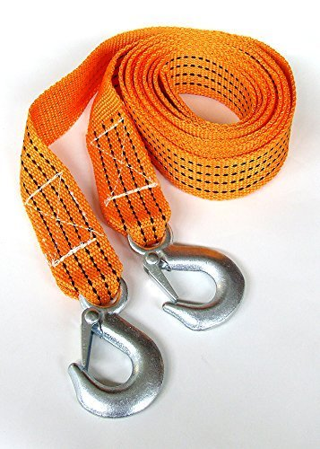 2 TONNE 2T 3.6M 2000kg Tow Towing Pull Rope Strap Heavy Duty Road Recovery Car Van 4x4 flexzon