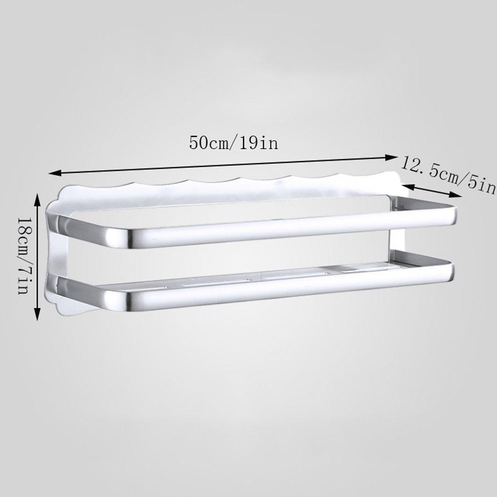 YXN Space Aluminum Bathroom Shelf Bathroom Hardware Accessories Single-layer Cosmetics Wall Mount Bathroom Storage Rack (Size : 50cm)
