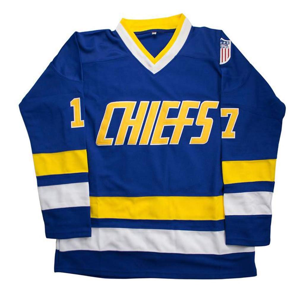 Custom Charlestown Chiefs Slap Shot Hanson Brothers #16#17#18 Embroidered Name Number Hockey Jersey