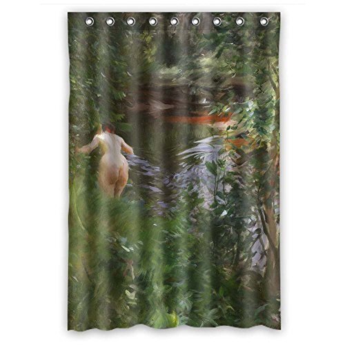 MaSoyy Polyester Bathroom Curtains Of Anders Zorn Art Painting For Husband Boys Gf Couples Mother. Modern Design Width X Height / 48 X 72 Inches / W H 120 By 180 Cm(fabric)