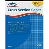 "Alvin Cross Section Paper 4"" x 4"" Grid 50-Sheet Pad 17"" x 22"""