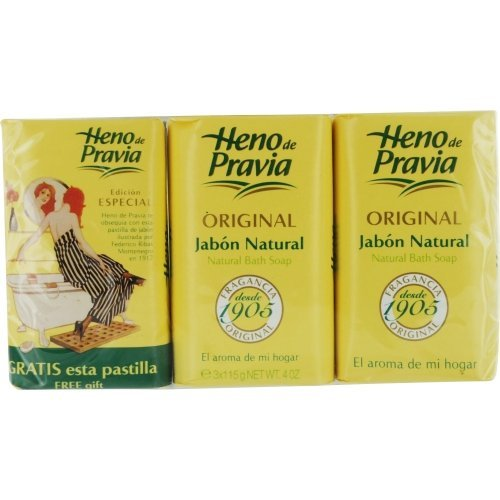 Price comparison product image HENO DE PRAVIA by Parfums Gal SET OF 2 SOAPS PLUS 1 FREE AND EACH IS 4 OZ for WOMEN ---(Package Of 6)