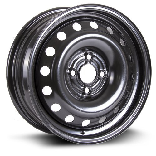 RTX, Steel Rim, New Aftermarket Wheel 15X6, 4X100, 57.1, 45, Black Finish X99123N
