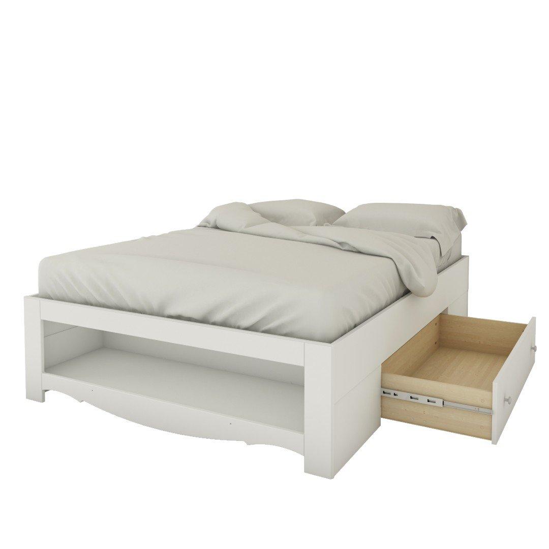 Amazon.com: Nexera 318403 1 Drawer Full Size Storage Bed, White: Kitchen U0026  Dining