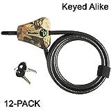 Master Lock Python Trail Camera Adjustable Camouflage Cable Locks (12-pack) Keyed Alike