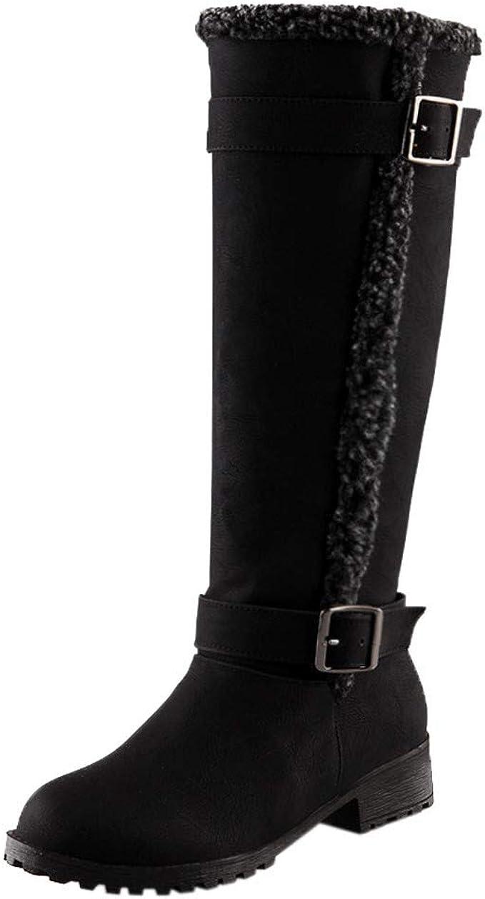 Stivali da Neve al Ginocchio da Donna Inverno Scarpe Comode