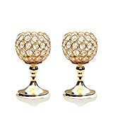 #1: VINCIGANT Gold Crystal Bowl Candlestick Holders for Table Centerpieces,Mothers Day Gifts,8 Inches Tall