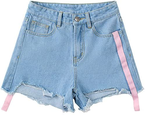 9b8d50397f7 MDRW-Pantalones Vaqueros Ripped Shorts De Mezclilla Mujer Pantalones De  Pierna Ancha Color De Verano. Cargando imágenes.