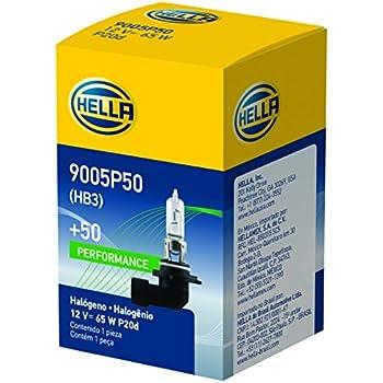 HELLA 9005P50 + 50% + +50 Performance Bulb, 12V, 65W