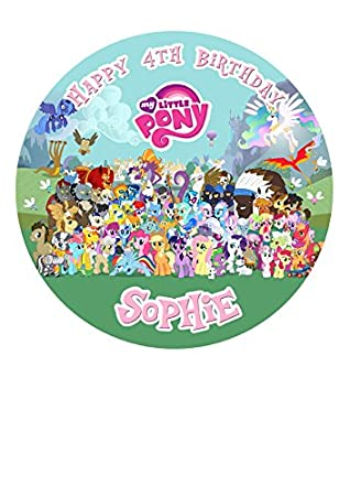 My Little Pony Party Personalisierte Kuchen Topper Puderzucker