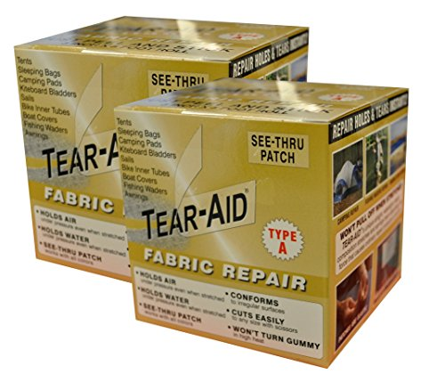 (Tear-Aid Fabric Repair Kit, 3 in x 5 ft Roll, Type A (2 Pack))