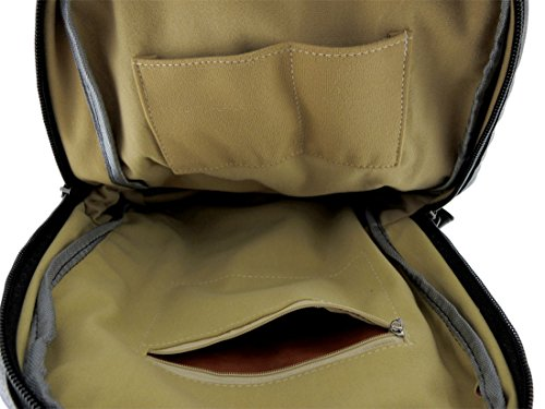 Zeckos - Bolso mochila  para mujer negro negro