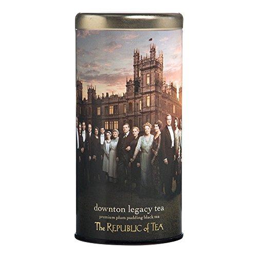 The Republic Of Tea Downton Abbey Limited Edition Legacy Tea, 36 Tea Bags, Plum Pudding Dessert Tea (Republic Of Tea British compare prices)