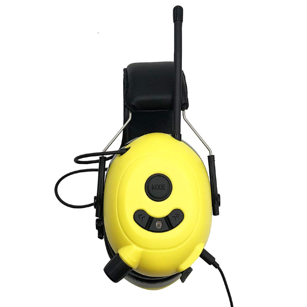 FM MP3 Bluetooth Radio Ear Defenders Wireless Cancelling Headphones with Built-in Mic,Electronic Noise Reduction Hearing Protection for Lawn Mower// Logging//Sawing//Operating Machinery,etc.